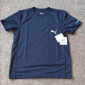 PUMA Boys gray T-shirt SZ.youth L